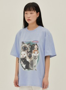 Cat squad goals tee [skyblue]